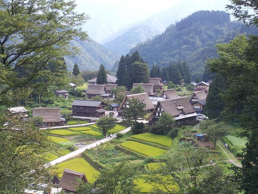 View from Ainokura viewpoint