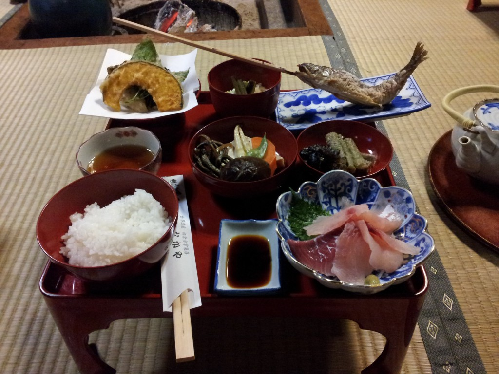 Dinner in Gassho Minshuku Nakaya