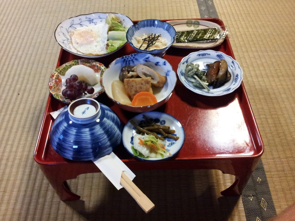 Breakfast in Gassho Minshuku Nakaya